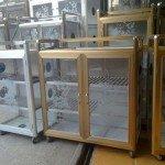 Tủ nhôm kính đựng chén bát đẹp tại Tp HCM