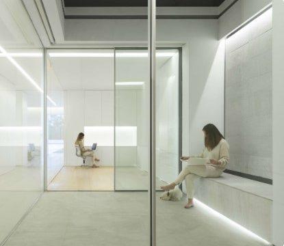 văn phòng kính cường lực đẹp bền tiện nghi 2019