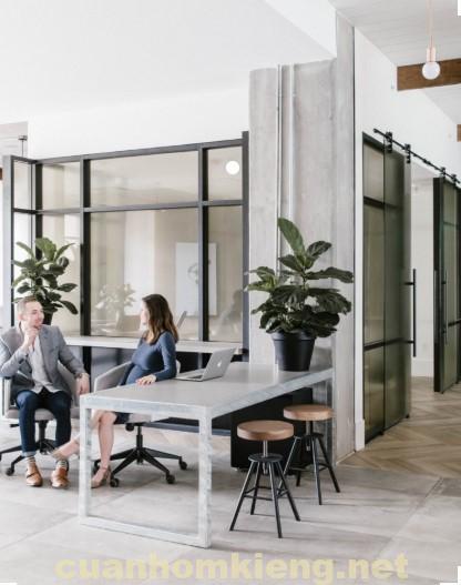 Văn phòng cửa kính cường lực đẹp uy tín 2019